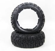 "HPI Baja 5B front small knobby ""EXCAVATOR"" tire set"
