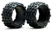 "HPI Baja 5B rear rare knobby ""MT TIRE"" tire set"
